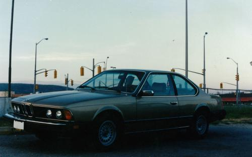 Beautiful1980 BMW 633i on display at the 1405 Hammond corner lot. For many years those waiting at the lights going into the Northgate mall were allowed to gaze at some very cool cars to their right. This vehicle (along with many) being purchased from our trusted Toronto wholesaler, Ian Garry, whom still supplies us with quality units to this day.